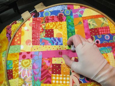 hand quilting stitch, Another Hatchett Job blog, quilting, hand quilting