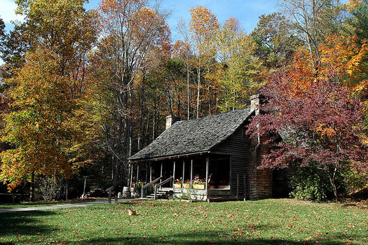 fall at an appalachian cabin